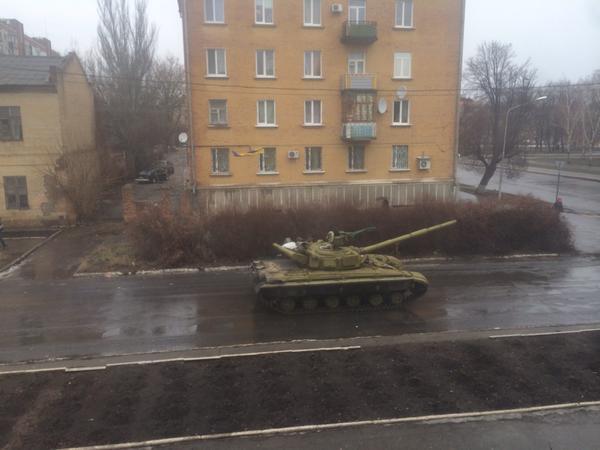 Tanks in the street