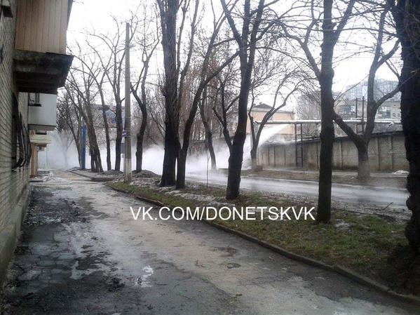 Donetsk, shells hit heat system