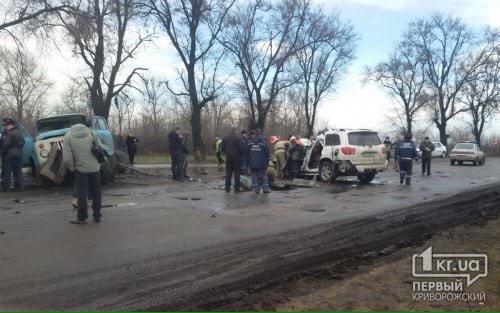 The scene of the accident with Kuzma Skryabin