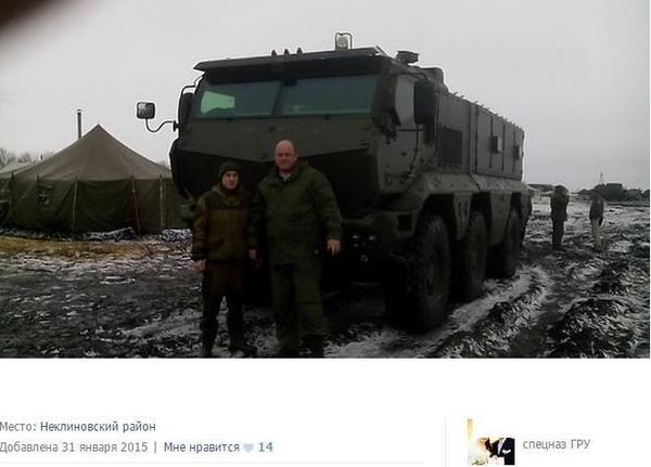 Kamaz-63968 «Typhoon» near the border of Ukraine