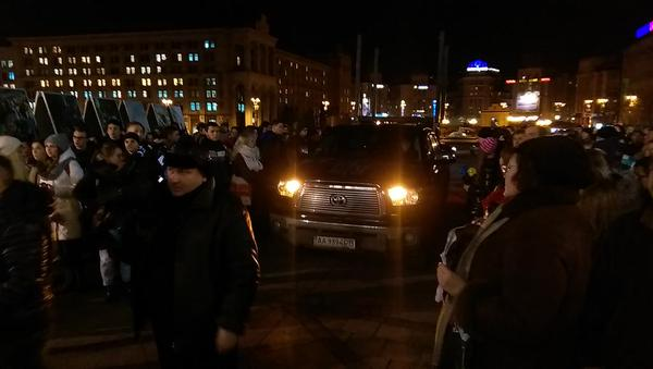 Several hundred people had already gathered at the Stella on Maidan to commemorate Kuzma Skryabin