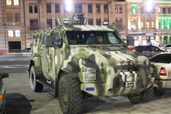 Kraz Spartan protecting people in Kharkiv