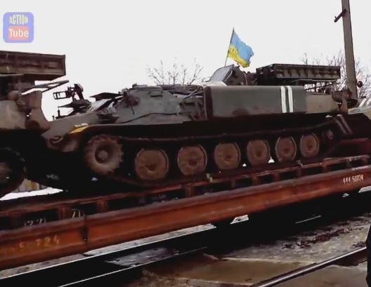 Ukrainian SAM SA-13 Gopher going to Donbass