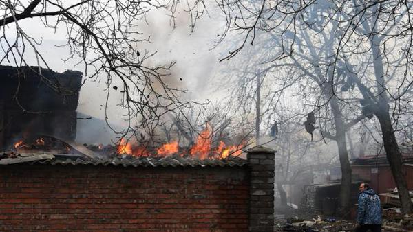 The building of the Kuibyshev district administration was shelled in Donets'k