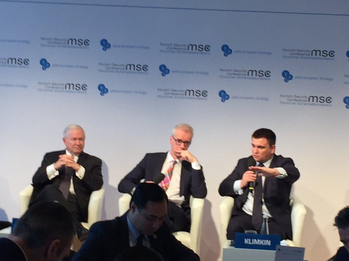 .@PavloKlimkin at Ukrainian lunch @MunSecConf msc2018: a simple remedy to stop Russian war. Russia must get out of the occupied Donbas and the international community takes over