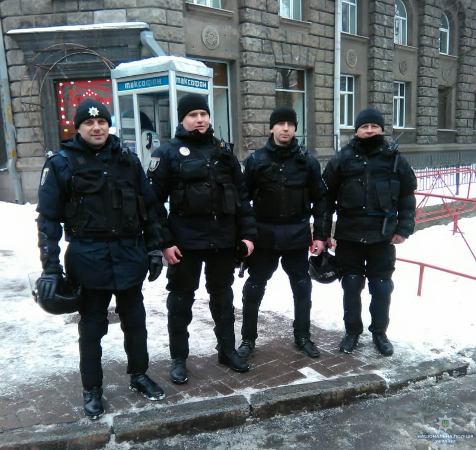 Kyiv: About 3000 police and military personnel of the National Guard monitor security situation today