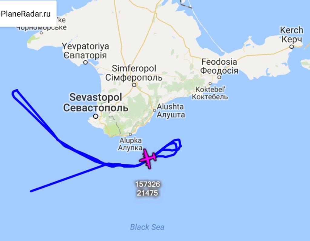 US Navy EP-3E 157326 FARMR26 departed Souda Bay at 0606z - Black Sea mission